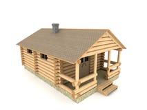 Costruzione del bagno in un'illustrazione del villaggio 3D Fotografia Stock
