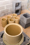 Costruzione del camino ceramico modulare Immagine Stock