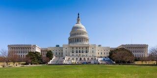Costruzione del Campidoglio degli Stati Uniti nel Washington DC Fotografia Stock Libera da Diritti