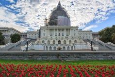 Costruzione del Campidoglio degli Stati Uniti in primavera Fotografia Stock Libera da Diritti