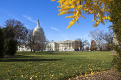 Costruzione del Campidoglio degli Stati Uniti, Washington DC Fotografia Stock Libera da Diritti