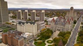 Costruzione del Campidoglio dello Statehouse di New York di stagione di caduta a Albany fotografia stock libera da diritti