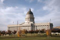 Costruzione del Campidoglio dello stato dell'Utah in autunno Fotografia Stock