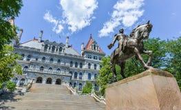 Costruzione del Campidoglio dello Stato di New York, Albany Immagini Stock
