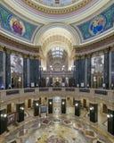 Costruzione del Campidoglio dello stato di Wisconsin rotunda Immagine Stock Libera da Diritti