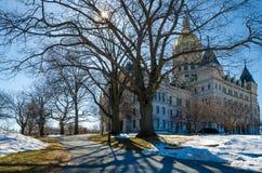 Costruzione del Campidoglio di Hartford Connecticut Fotografia Stock Libera da Diritti