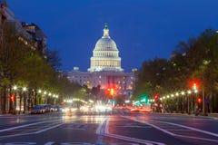 Costruzione del Campidoglio nel Washington DC fotografia stock libera da diritti
