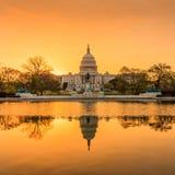 Costruzione del Campidoglio nel Washington DC Immagine Stock Libera da Diritti