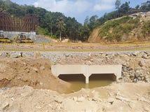 Costruzione del canale sotterraneo Fotografia Stock