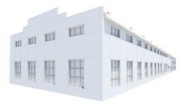 Costruzione del capannone Cavo-struttura bianca Fotografia Stock