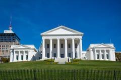 Costruzione del capitale dello Stato in Richmond Virginia del centro immagini stock libere da diritti