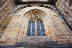 Costruzione del castello di Praga Immagini Stock