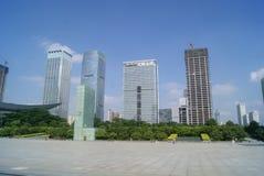 Costruzione del centro cittadino di Shenzhen Immagini Stock Libere da Diritti