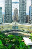 Costruzione del centro della torre gemella di Petronas Fotografia Stock Libera da Diritti