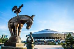 Costruzione del circo a Astana fotografia stock libera da diritti