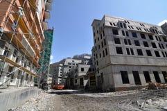 Costruzione del complesso dell'hotel Fotografie Stock