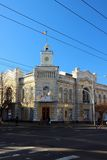 Costruzione del comune a Chisinau, il 13 dicembre 2014, Chisinau, Moldavia Fotografie Stock