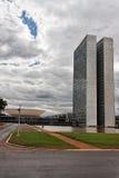 Costruzione del congresso a Brasilia Immagine Stock