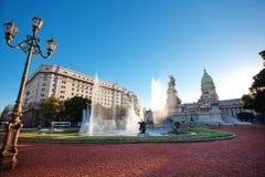 Costruzione del congresso a Buenos Aires Immagini Stock