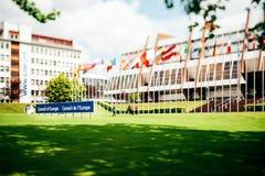 Costruzione del Consiglio d'Europa Fotografie Stock