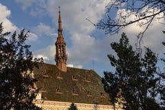 Costruzione del County Council di Hunedora in Deva, Romania fotografia stock libera da diritti