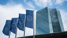 Costruzione del ECB della banca centrale europea a Francoforte Fotografia Stock Libera da Diritti