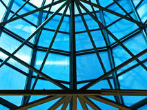 Costruzione del ferro all'interno del tetto Fotografia Stock Libera da Diritti