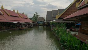 costruzione del fiume del cielo dell'acqua tailandese Fotografia Stock Libera da Diritti