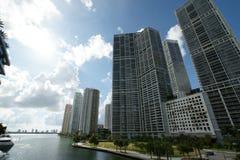 Costruzione del fiume di Miami Fotografia Stock Libera da Diritti