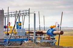 Costruzione del giacimento di gas immagini stock