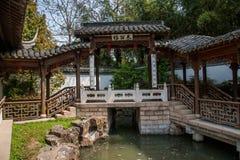 Costruzione del giardino del lago ad ovest snello Yangzhou Fotografie Stock