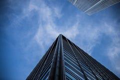 Costruzione del grattacielo di Chicago Fotografie Stock Libere da Diritti
