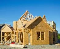 Costruzione del legno di casa della struttura immagini stock libere da diritti