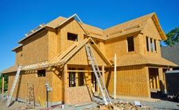 Costruzione del legno di casa della struttura Immagine Stock