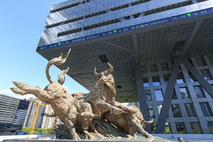 Costruzione del mercato azionario a Shenzhen Fotografie Stock