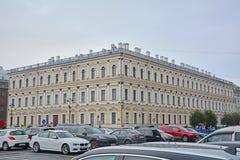 Costruzione del Ministero di agricoltura sul fiume in San Pietroburgo, Russia di Moika Fotografia Stock Libera da Diritti