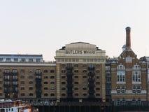 Costruzione del molo di Butler storico, Londra, Regno Unito fotografia stock