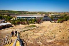 Costruzione del museo reale di Tyrrell di paleontologia in Alberta Immagine Stock Libera da Diritti