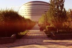 Costruzione del nome delle biblioteche di presidente del Kazakistan Fotografia Stock