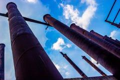 Costruzione del palo dell'acciaio inossidabile non finita Fotografia Stock