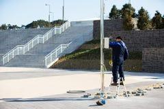 Costruzione del parco olimpico in Gangneung Immagini Stock