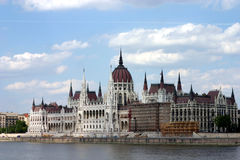Costruzione del Parlamento, Budapest, Immagini Stock Libere da Diritti