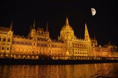 Costruzione del Parlamento a Budapest Fotografie Stock Libere da Diritti