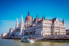 Costruzione del Parlamento a Budapest, Ungheria Fotografie Stock Libere da Diritti