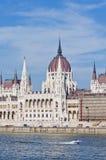 Costruzione del Parlamento a Budapest, Ungheria Immagine Stock
