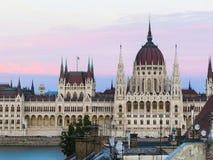 Costruzione del Parlamento, Budapest, Ungheria Fotografia Stock Libera da Diritti