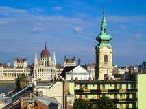 Costruzione del Parlamento, Budapest, Ungheria Fotografie Stock
