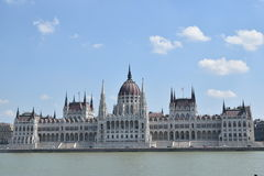 Costruzione del Parlamento a Budapest, Ungheria Immagini Stock Libere da Diritti