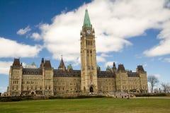 Costruzione del Parlamento del Canada Immagini Stock