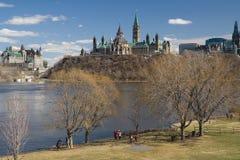 Costruzione del Parlamento del Canada Fotografie Stock